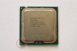 Tanda pin A1 pada processor