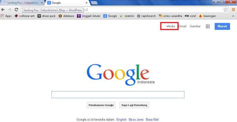 masuk google