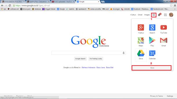 membuka google drive