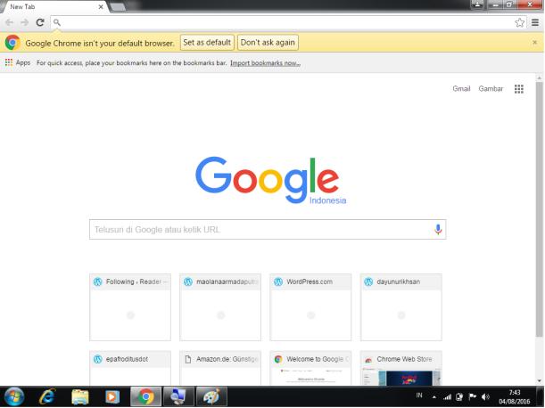 membuka browser